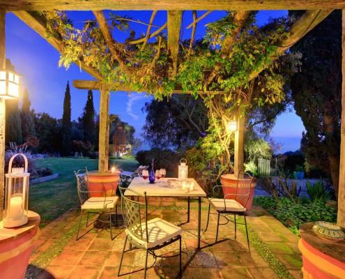 Cortijo La Hoya   Best Place To Stay in Tarifa, Spain   Casa Sol , Patio Night View