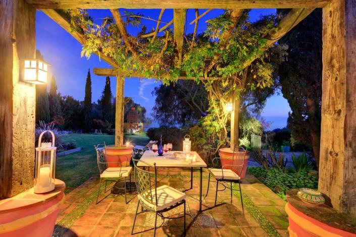 Cortijo La Hoya | Best Place To Stay in Tarifa, Spain | Casa Sol , Patio Night View