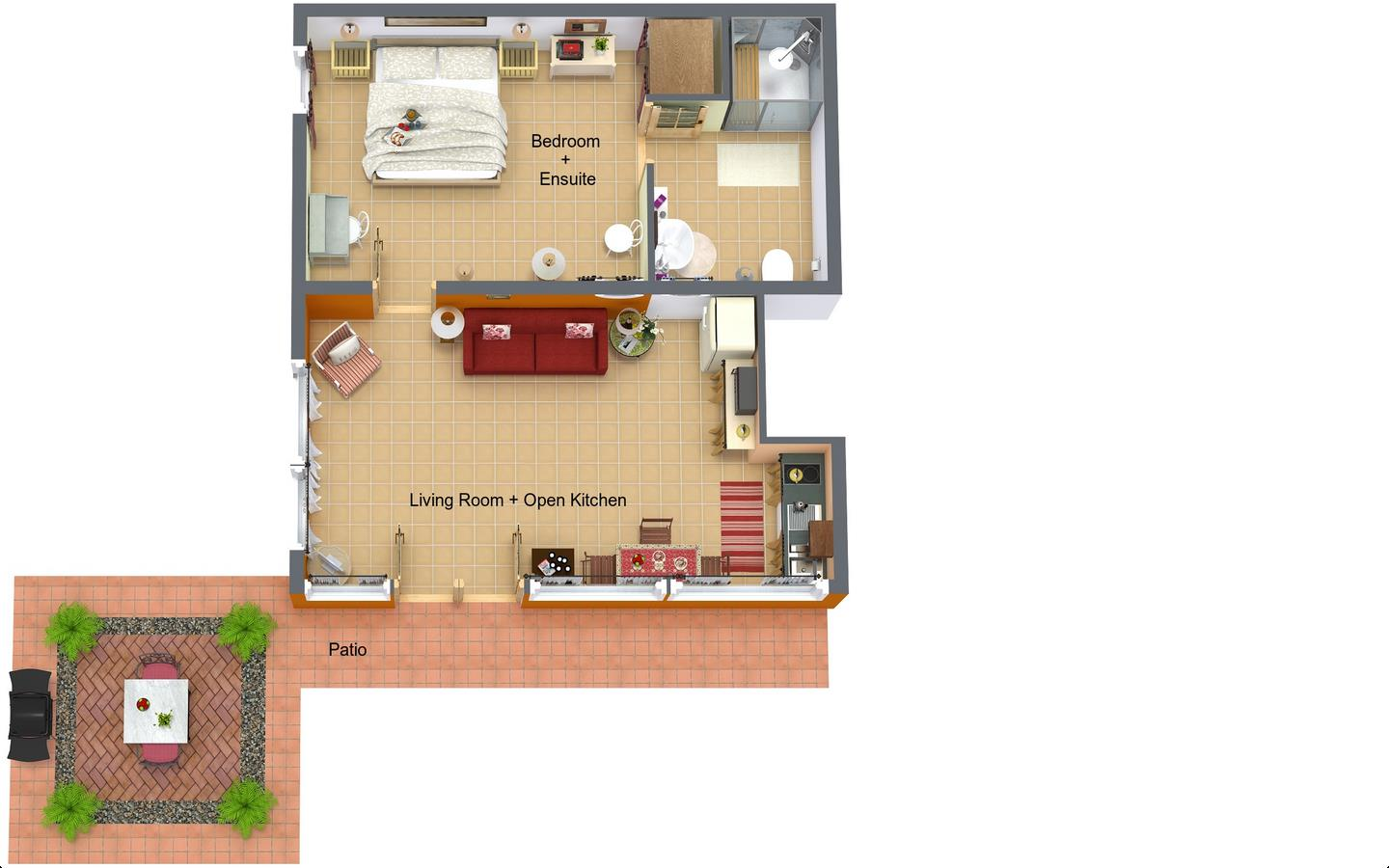 Casita Sol Floorplan
